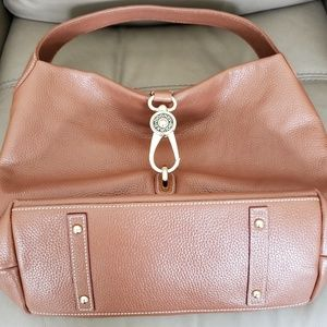 Dooney & Bourke Belvidere Lock Leather Pebble Hobo